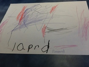 Emma's Drawing of a Leopard